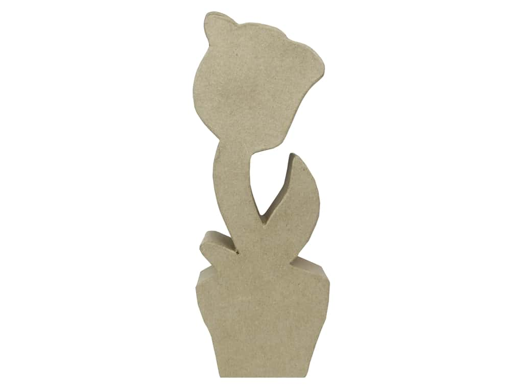 PA Paper Mache Table Decor Flat Flower A 11 1/4 in.