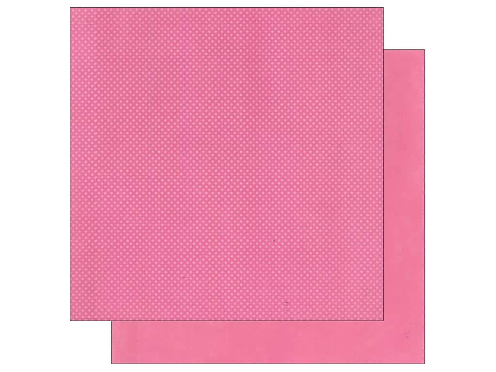 Bo Bunny 12 x 12 in. Paper Double Dot Collection Blush (25 sheets)