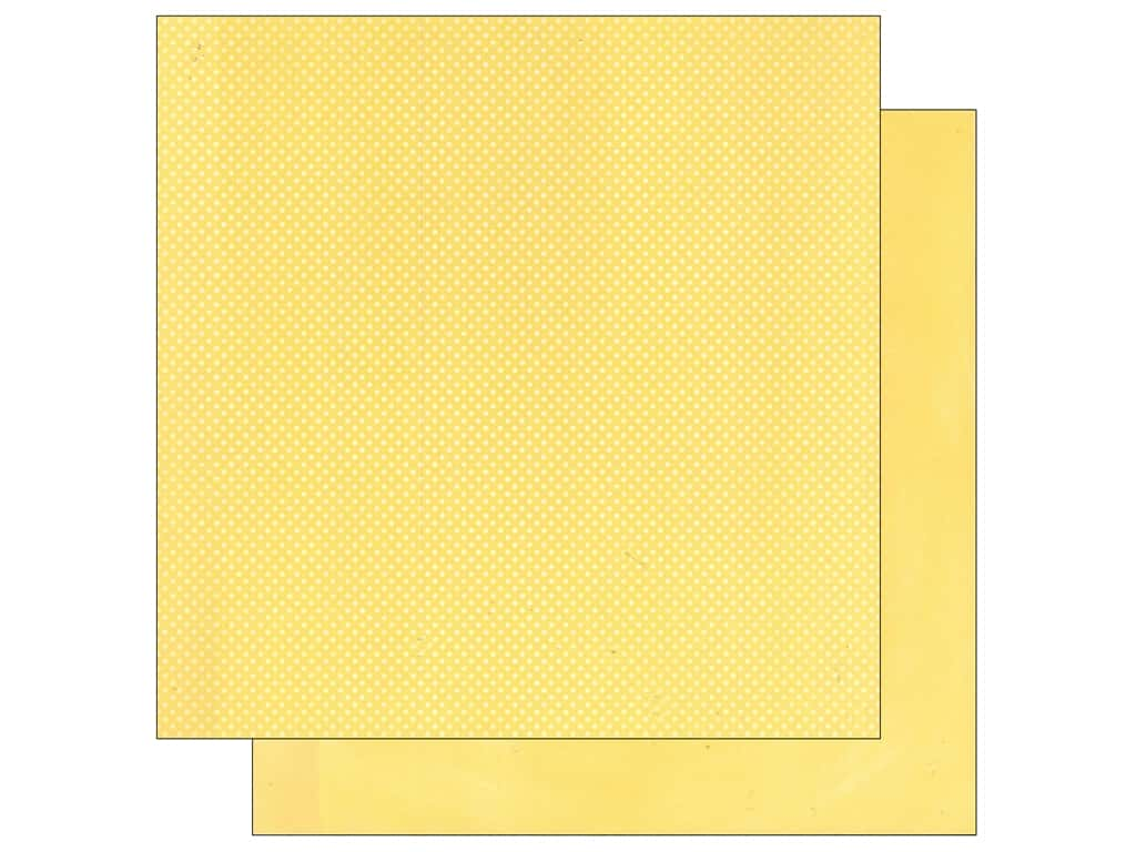 Bo Bunny 12 x 12 in. Paper Double Dot Mellow Yellow (25 sheets)