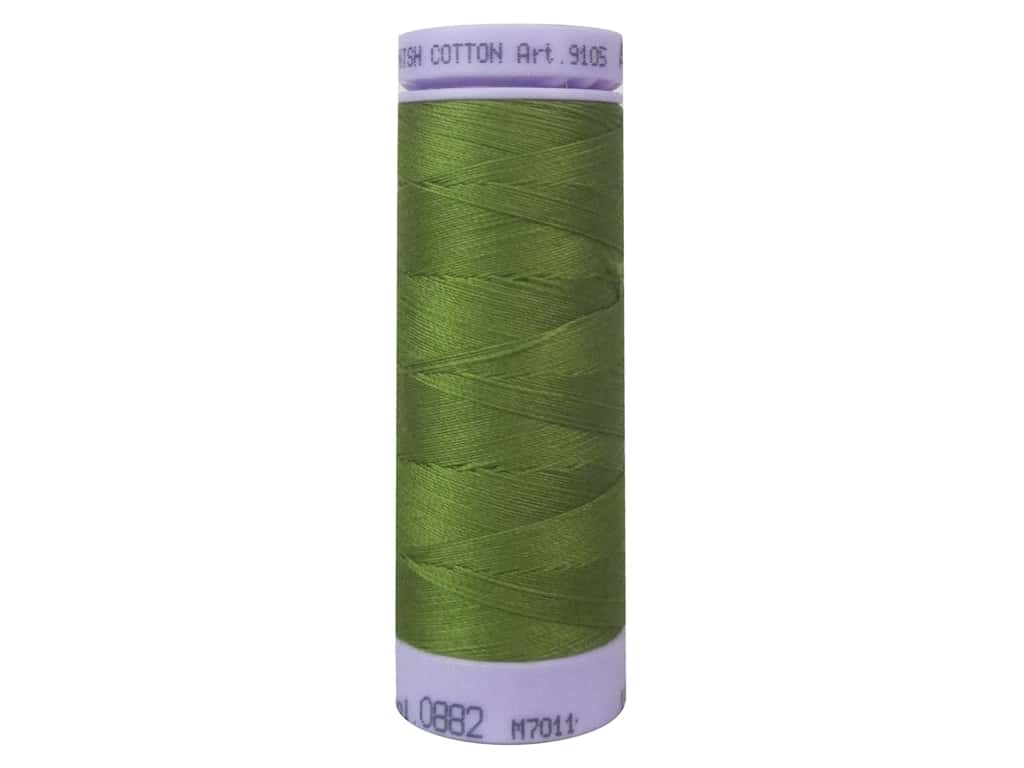 Mettler Silk Finish Cotton Thread 50 wt. 164 yd. #0882 Moss Green