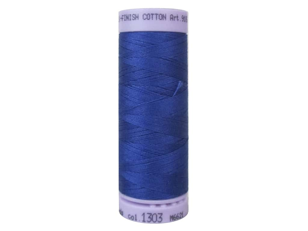 Mettler Silk Finish Cotton Thread 50 wt. 164 yd. #1303 Royal Blue