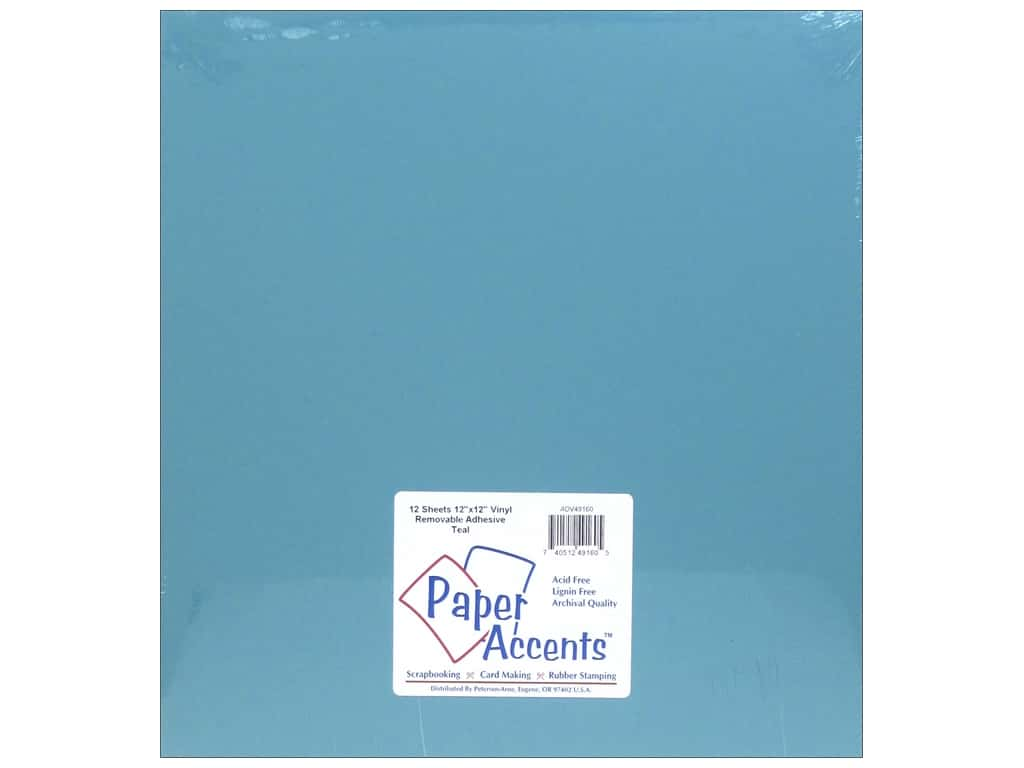 PA Adhesive Vinyl 12 x 12 in. Removable Matte Teal 12 pc. (12 sheets)