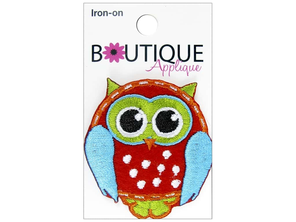 Blumenthal Boutique Applique Red Owl