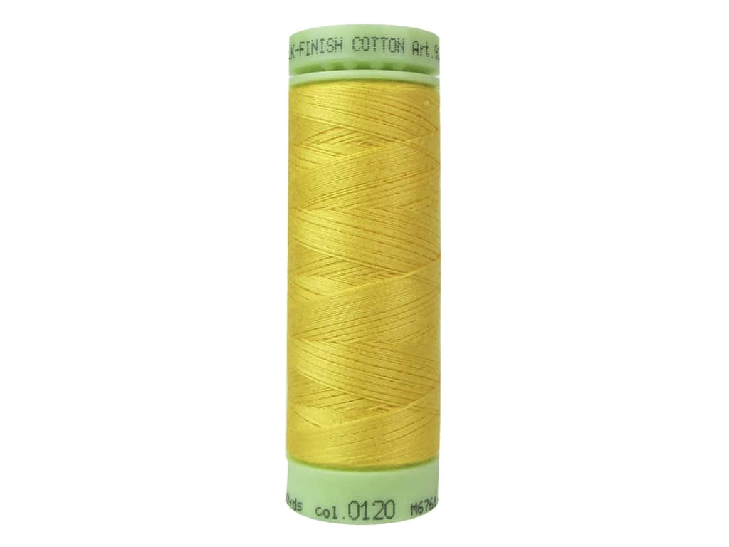 Mettler Silk Finish Cotton Thread 60 wt. 220 yd. #0120 Summersun