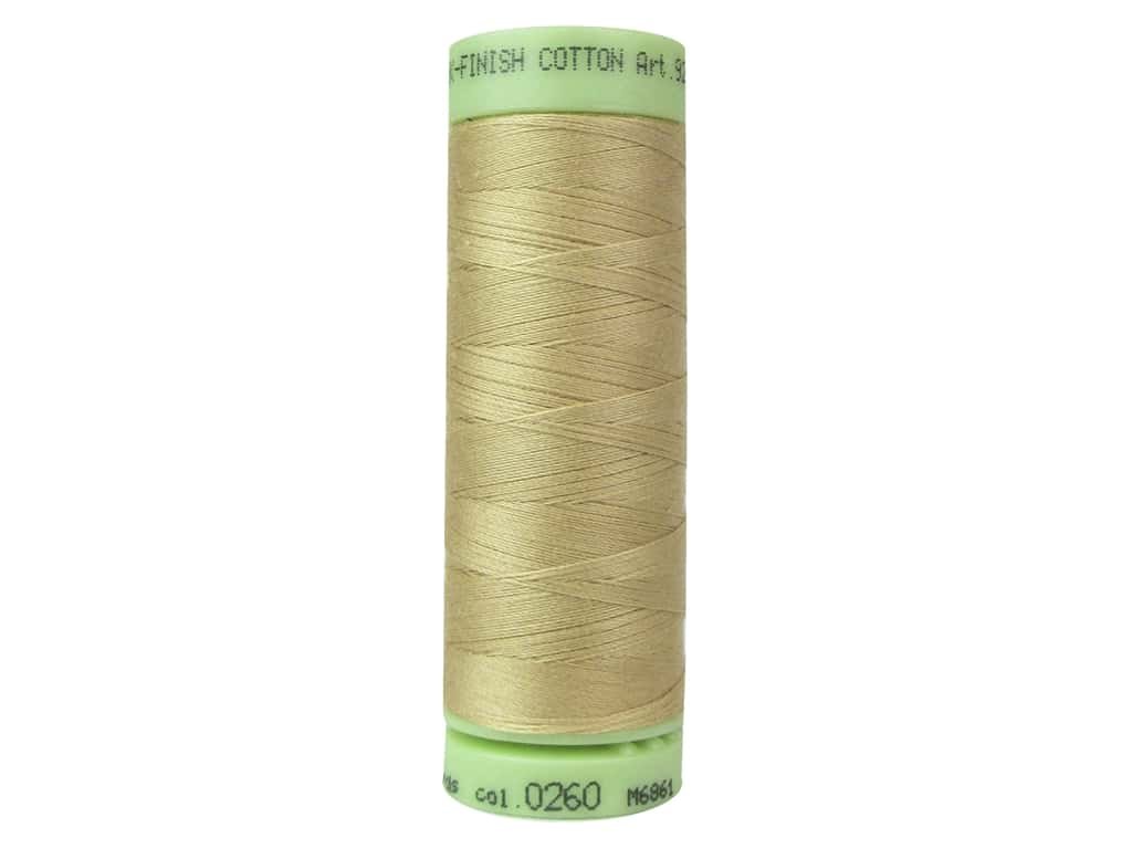 Mettler Silk Finish Cotton Thread 60 wt. 220 yd. #0260 Oat Straw
