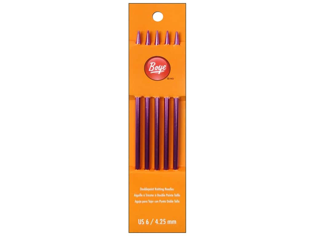 Boye Double Point Knitting Needles Aluminum 7 in. Size 6 (4.25 mm)