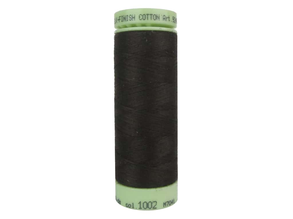 Mettler Silk Finish Cotton Thread 60 wt. 220 yd. #1002 Very Dark Brown
