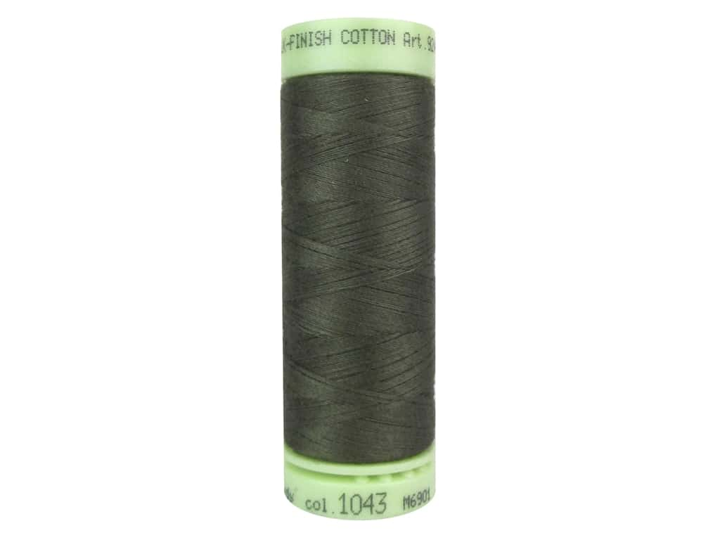 Mettler Silk Finish Cotton Thread 60 wt. 220 yd. #1043 Olive