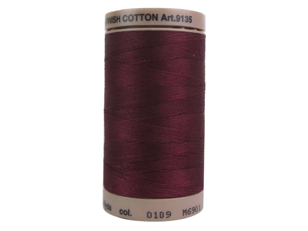 Mettler Silk Finish Cotton Thread 40 wt. 500 yd. #0109 Bordeaux