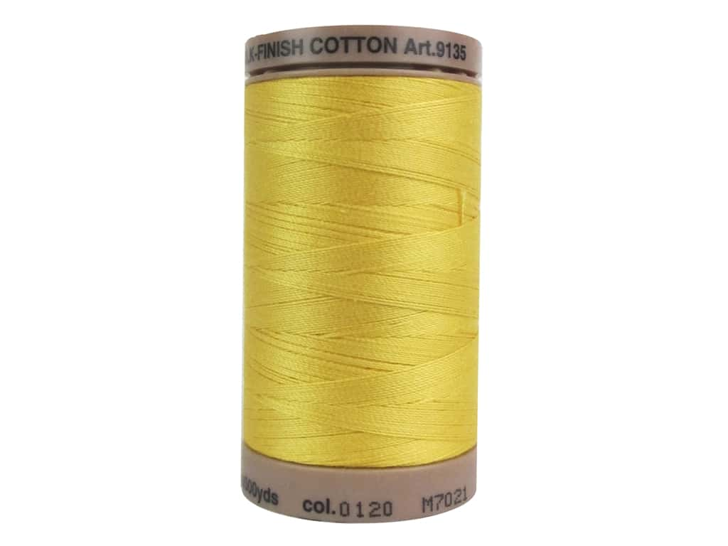 Mettler Silk Finish Cotton Thread 40 wt. 500 yd. #0120 Summersun