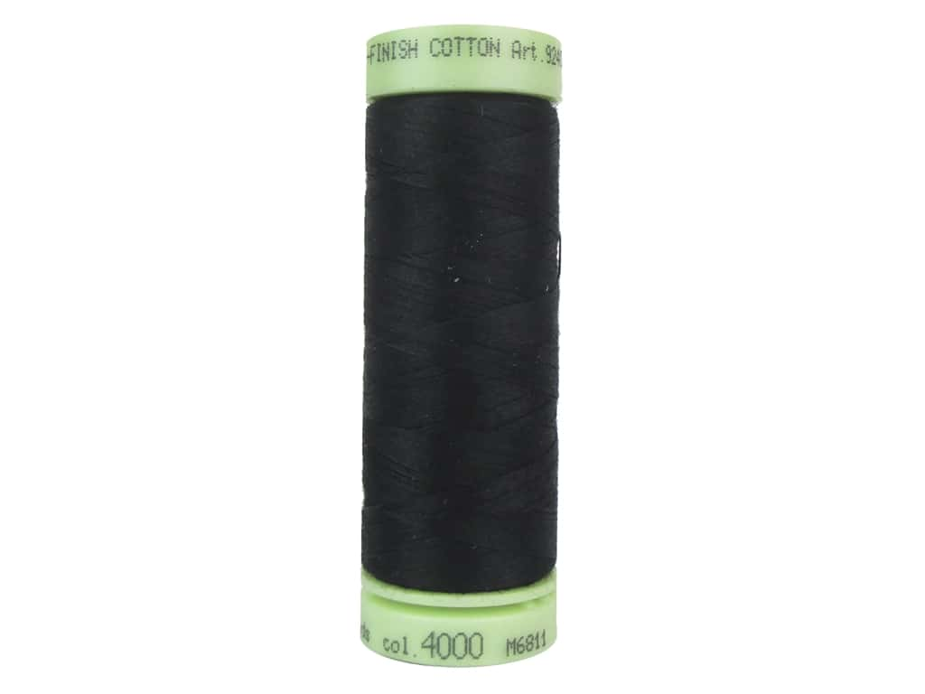 Mettler Silk Finish Cotton Thread 60 wt. 220 yd. #4000 Black