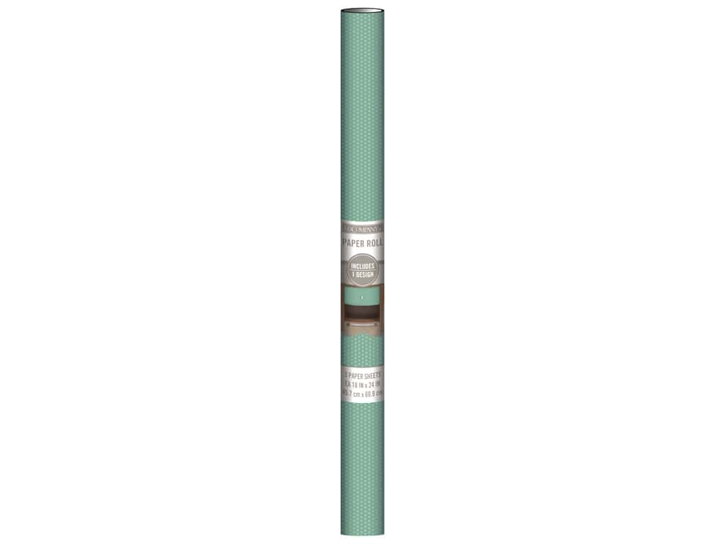 K & Company Paper Roll 18 x 24 in. Teal Dot 3 pc.