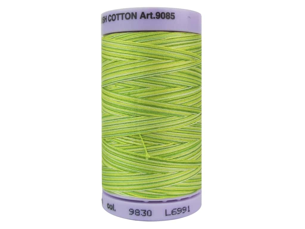 Mettler Silk Finish Cotton Thread 50 wt. 500 yd. #9830 Citrus Twist