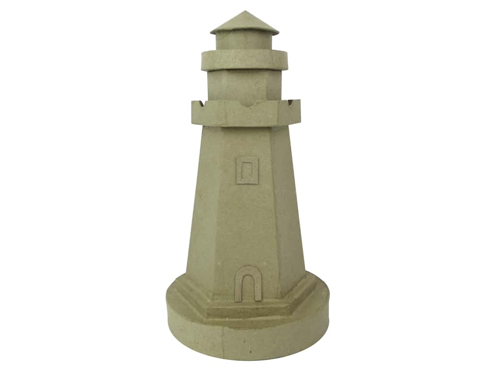 PA Paper Mache Lighthouse C 12 in.