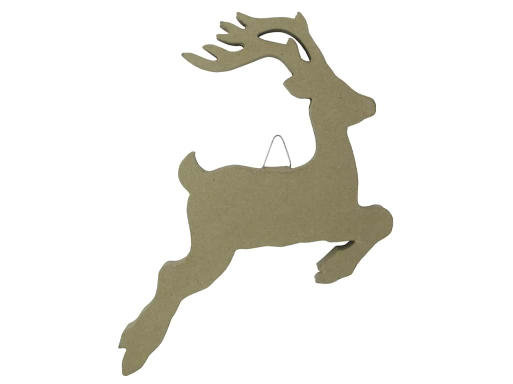 PA Paper Mache Flat Jumping Deer 14 in. (12 pieces)