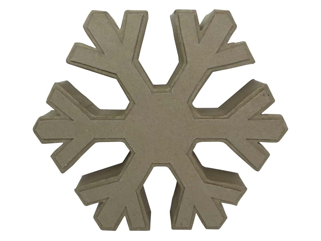 PA Paper Mache Table Decor Snowflake 10 in.