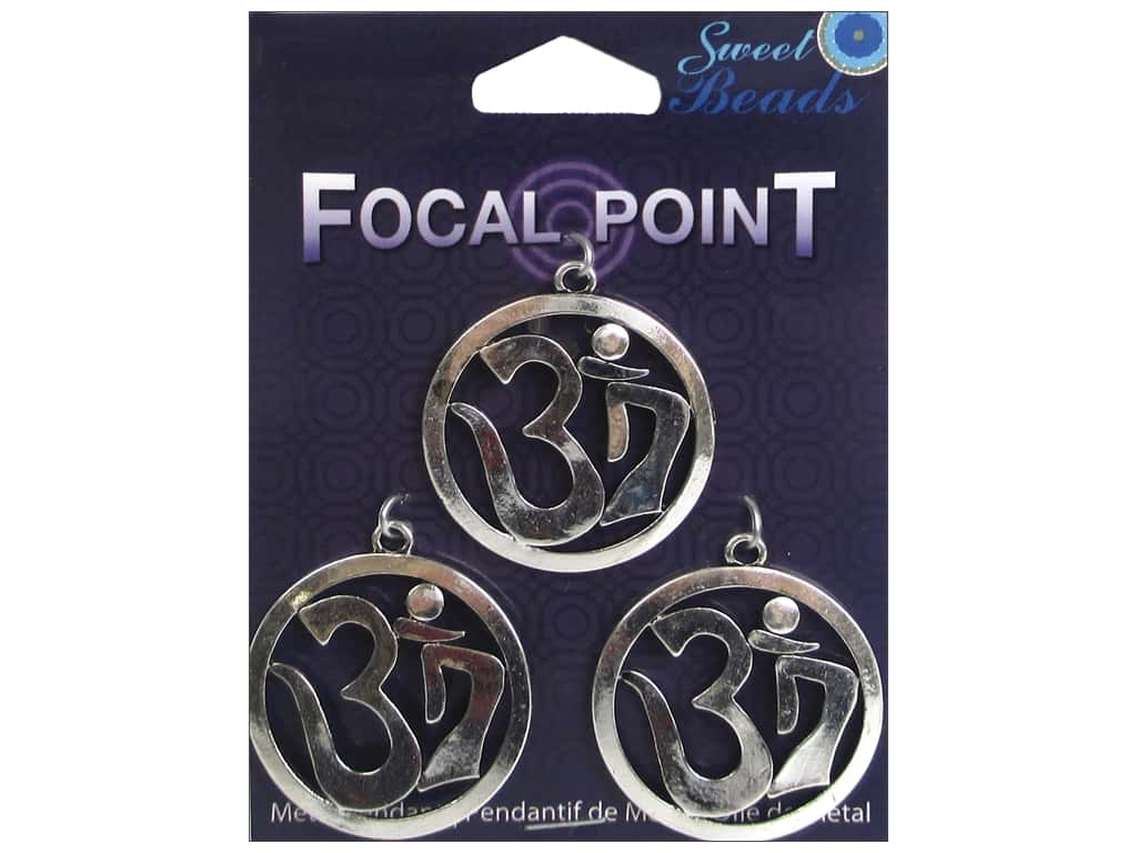 Sweet Beads EWC Focal Point Pendant Metal OM Silver 3pc