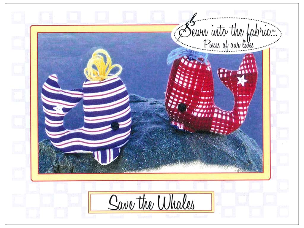 Sewn Into The Fabric Save The Whales Pincushion Pattern
