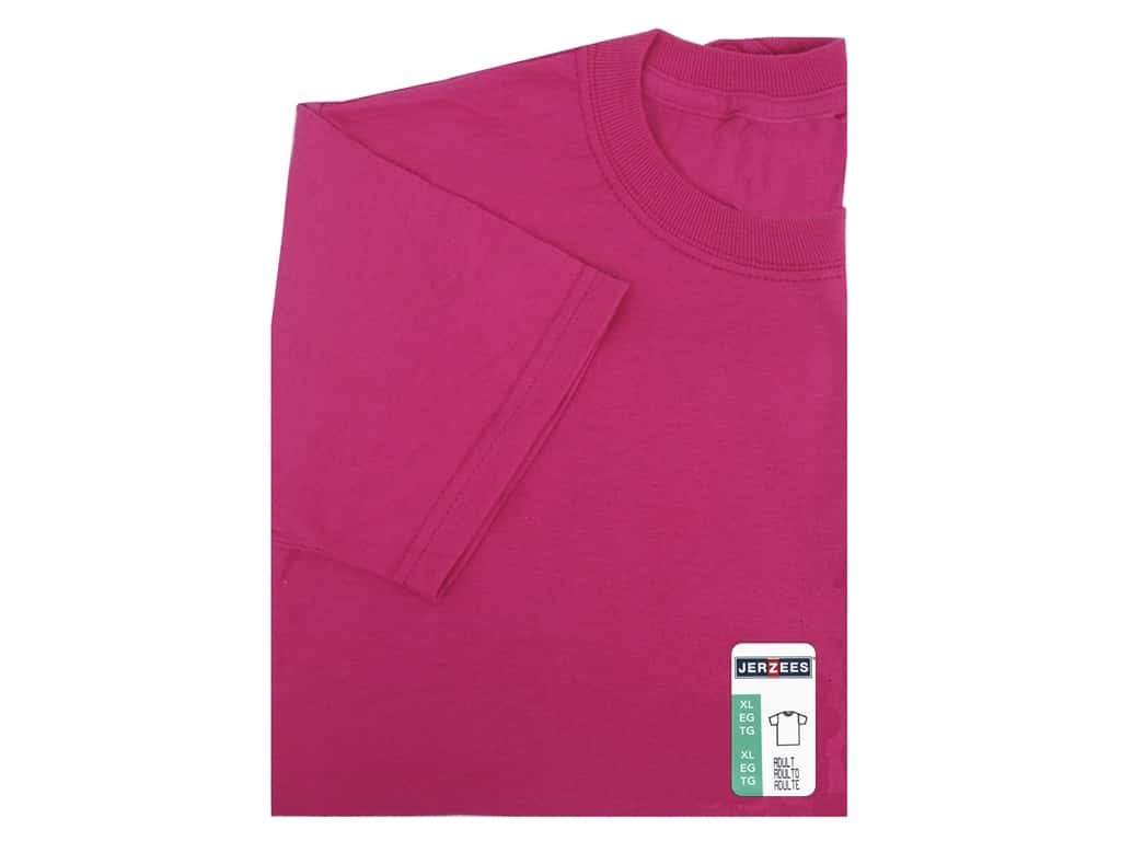 Jerzees T Shirt Adult XLarge Cyber Pink