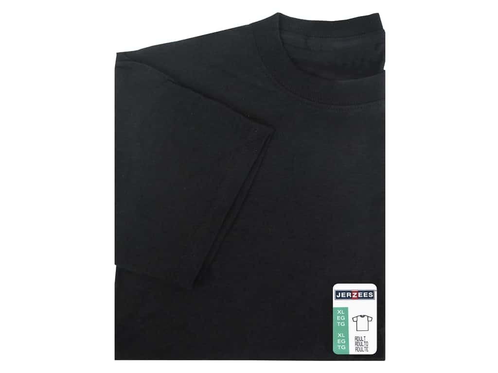 Jerzees T Shirt Adult XLarge Black