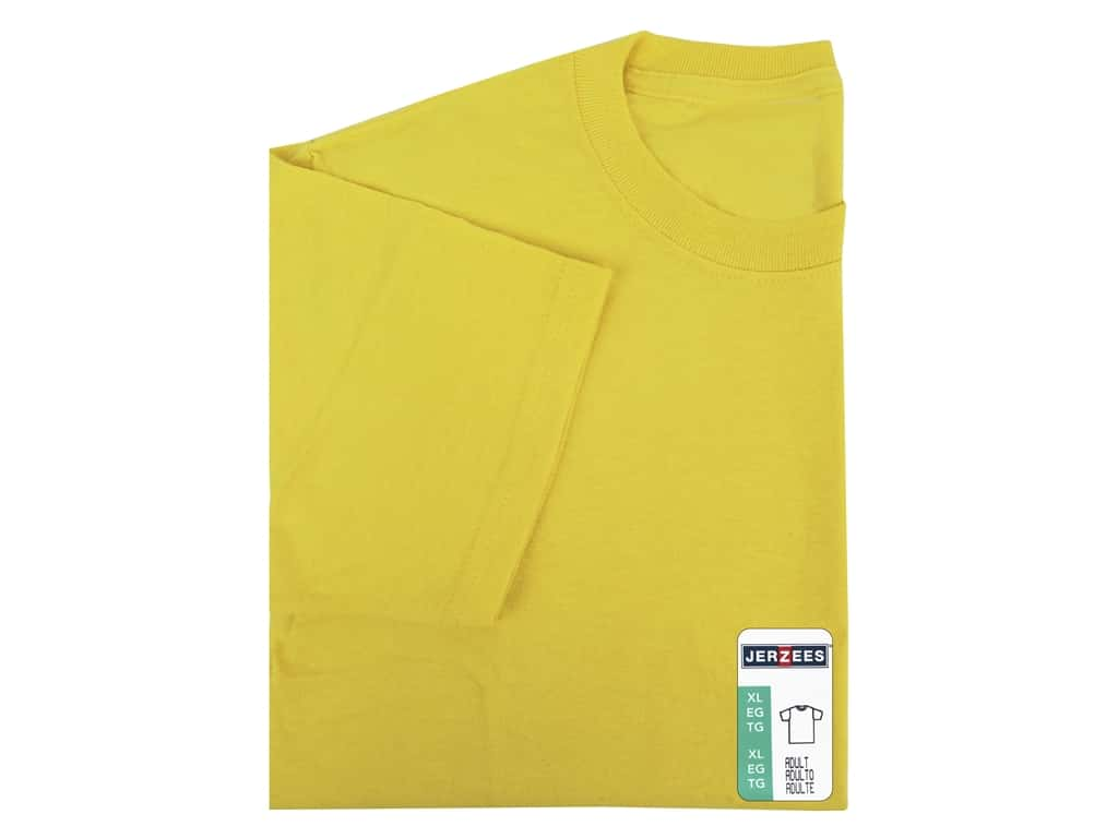 Jerzees T Shirt Adult XLarge Island Yellow