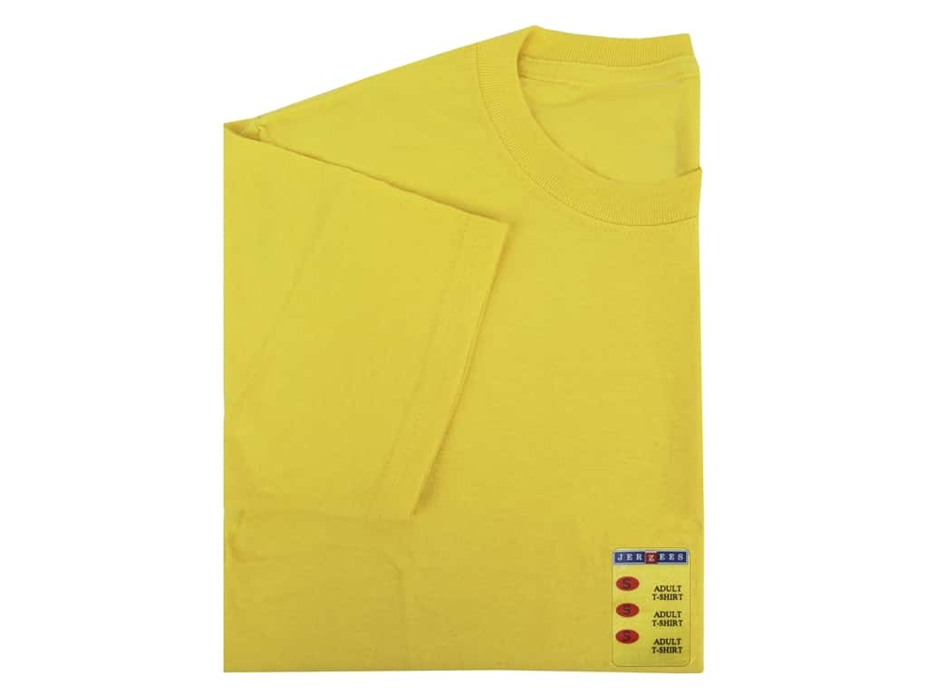 Jerzees T Shirt Adult Small Island Yellow