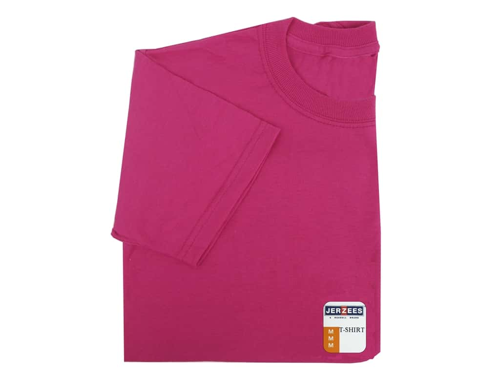 Jerzees T Shirt Youth Medium Cyber Pink