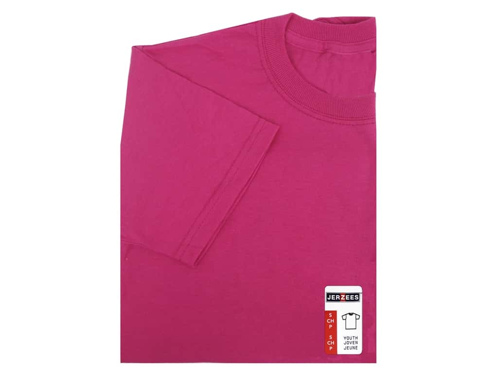 Jerzees T Shirt Youth Small Cyber Pink