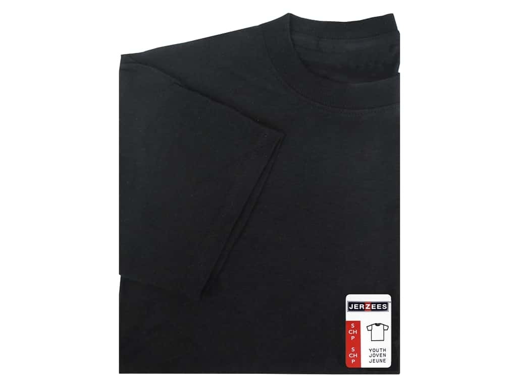 Jerzees T Shirt Youth Small Black