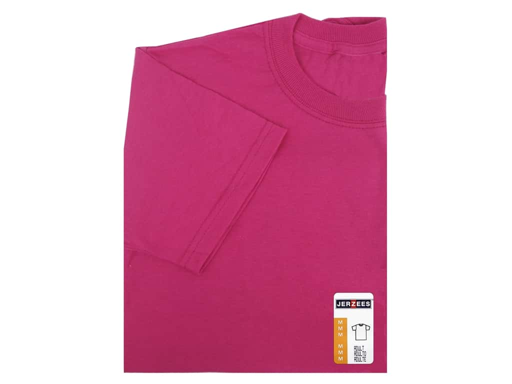 Jerzees T Shirt Adult Medium Cyber Pink