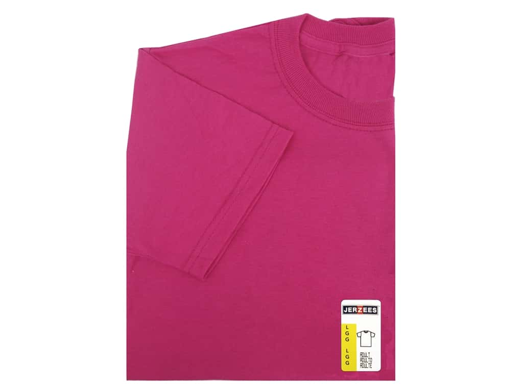 Jerzees T Shirt Adult Large Cyber Pink