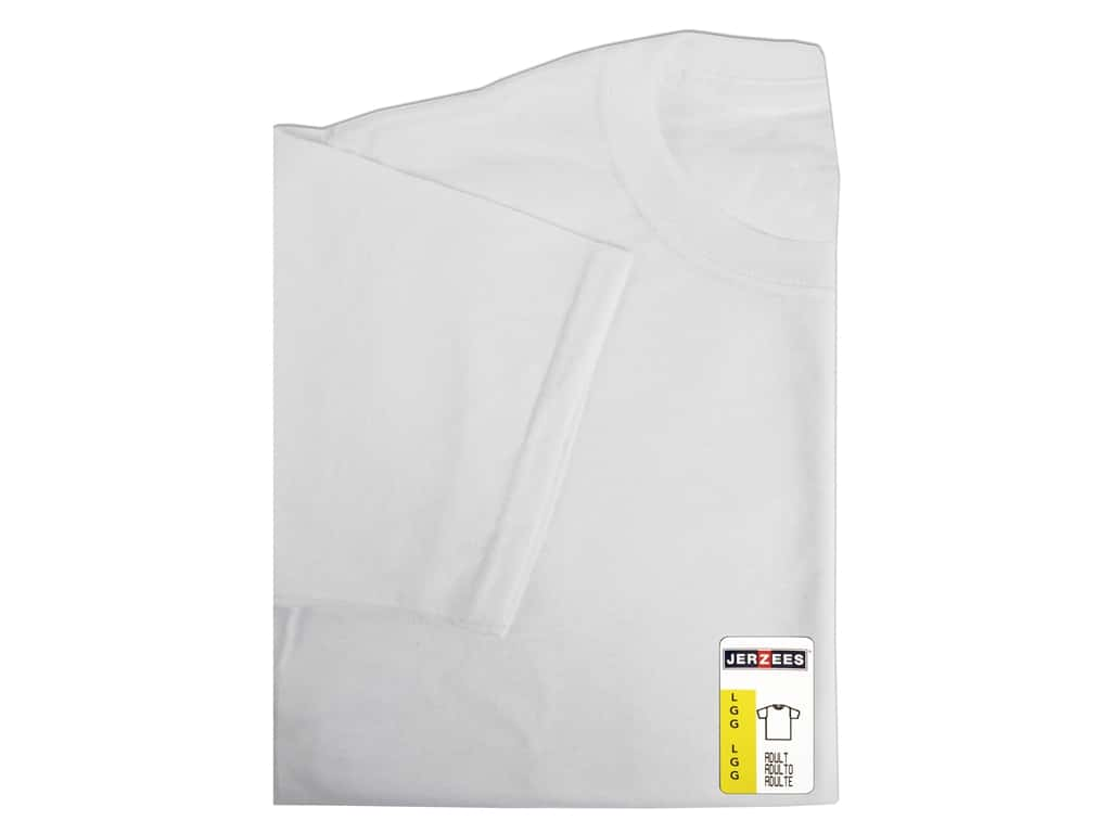 Jerzees T Shirt Adult Large White