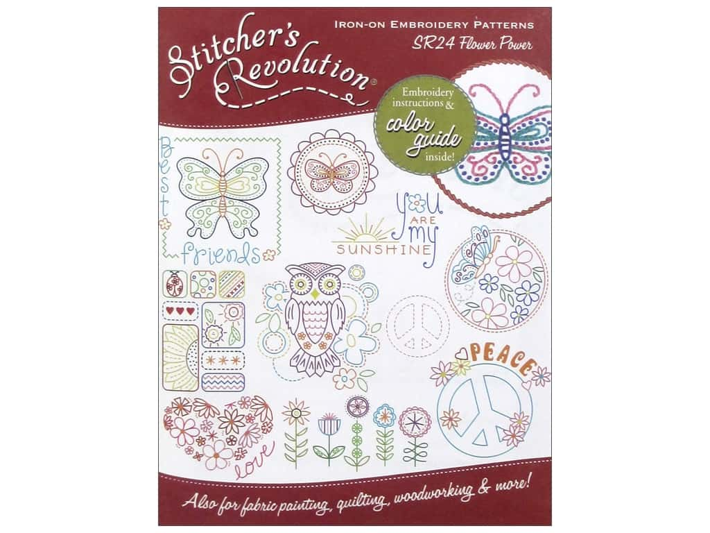 Stitcher's Revolution Iron On Transfer Flower Power