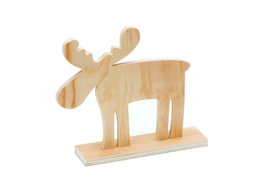 Darice Wood Table Top Moose with Antlers 6 3/4 x 5 3/4 x 1 5/8 in.