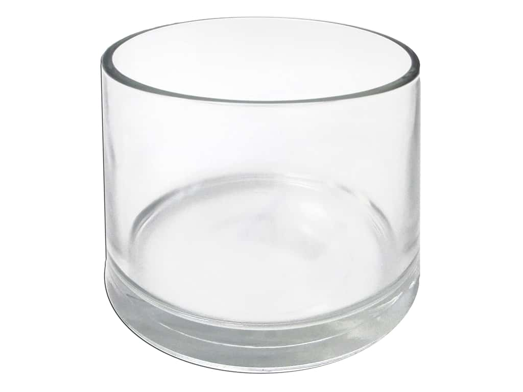Crisa by Libbey Glass Capstan Vase Cylinder 4 1/2 in. (4 pieces)
