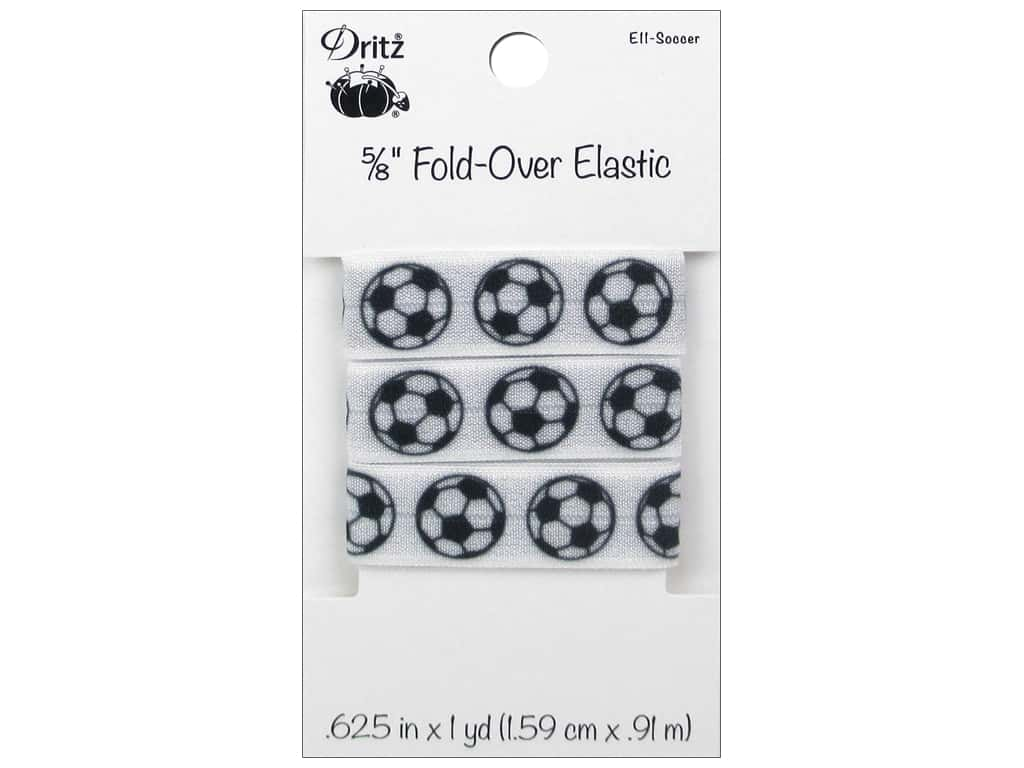 Dritz Fold-Over Elastic 5/8 in. x 1 yd. Sports Soccer