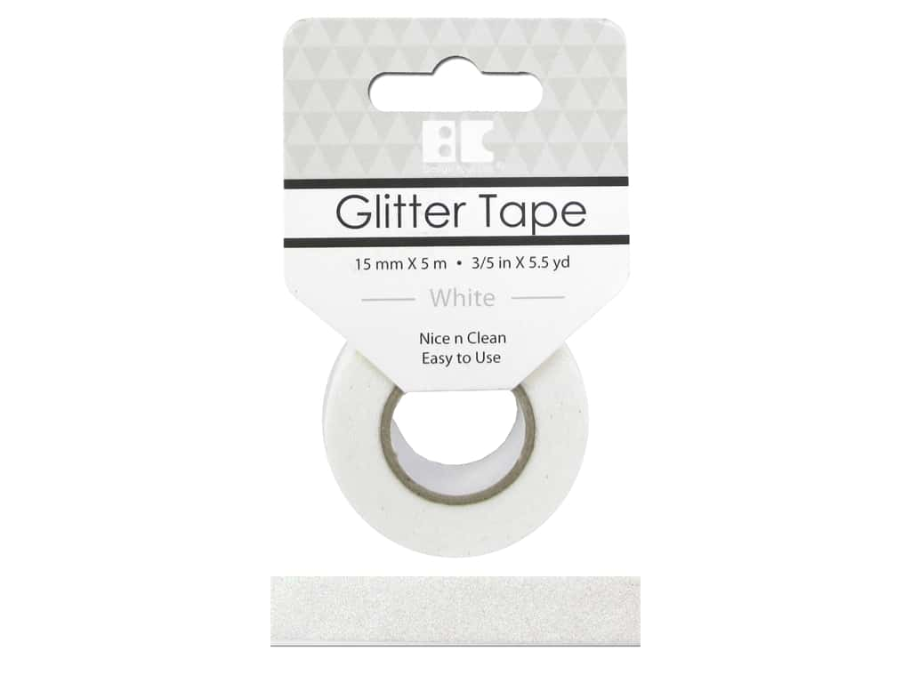 Best Creation Glitter Tape 5/8 in. x 5 1/2 yd. White