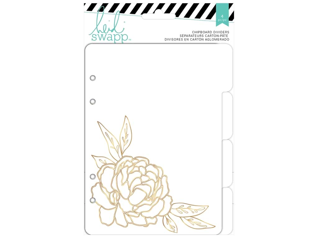 Heidi Swapp Wanderlust Chipboard Tap Dividers 5 x 7 in. 4 pc.
