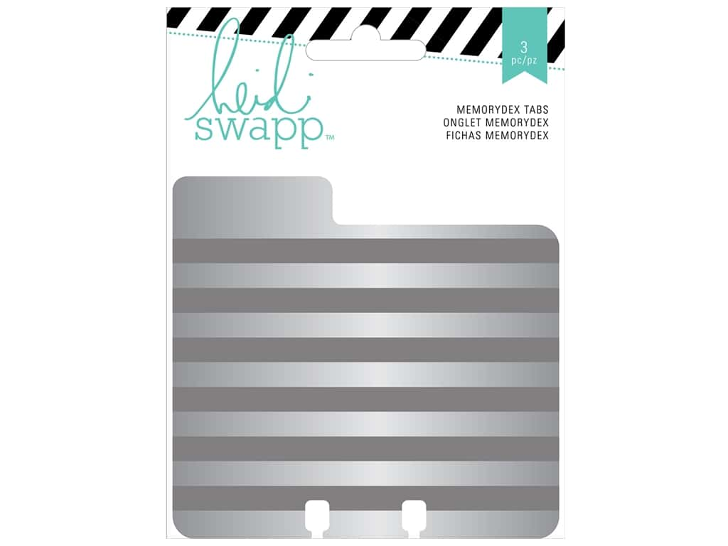 Heidi Swapp Wanderlust Memorydex Cards 3 pc. Tabbed Embossed Tin
