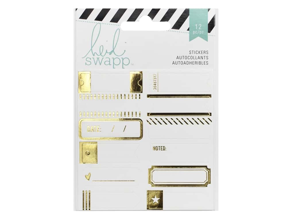 Heidi Swapp Label Stickers Wanderlust Gold Foil