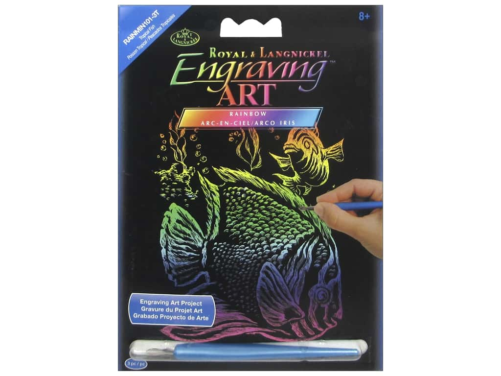 Royal Rainbow Mini Engraving Art Tropical Fish