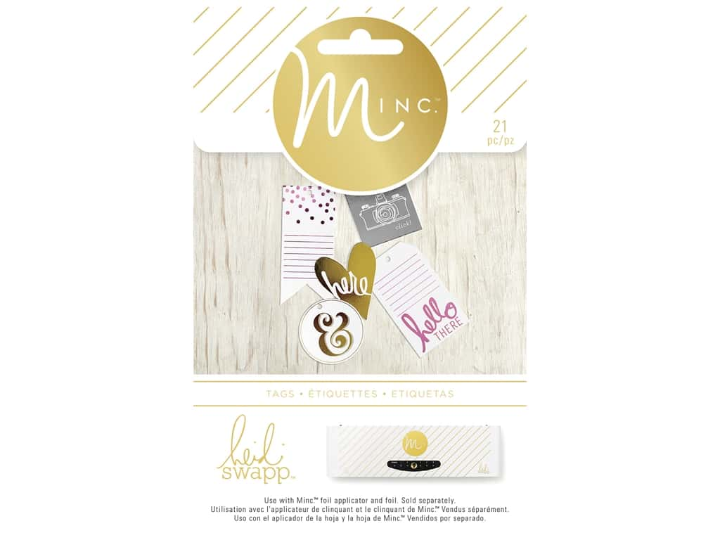 Heidi Swapp Minc Tags 21 pc. Hello There