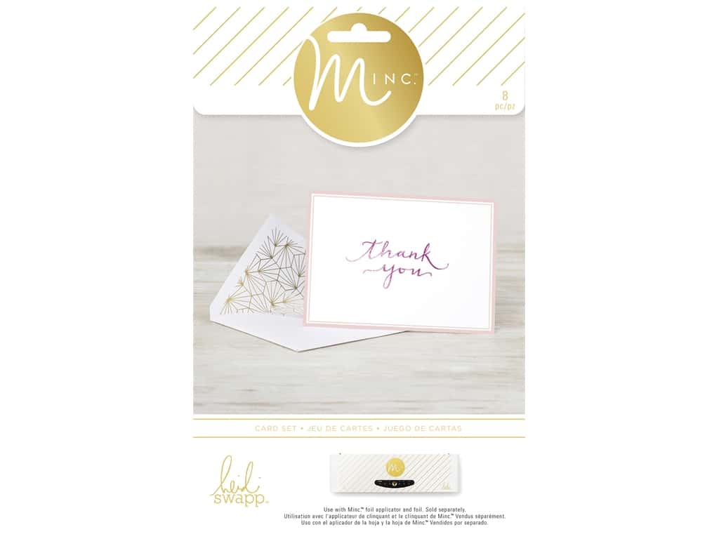 Heidi Swapp Minc Card & Envelopes 4 pc. Thank You