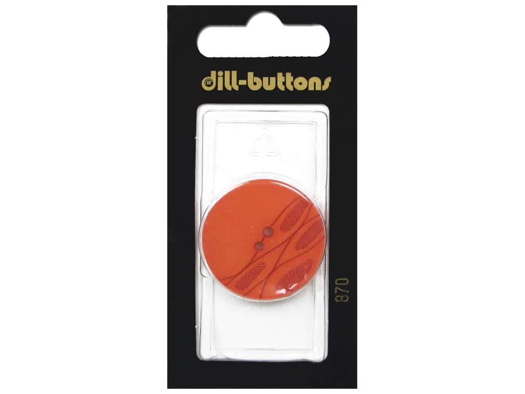 Dill 2 Hole Buttons 1 1/16 in. Orange #870 1 pc.