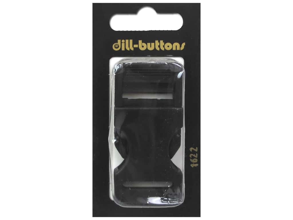 Dill Buttons Buckle 3/4 in. Black #1622 1 pc.
