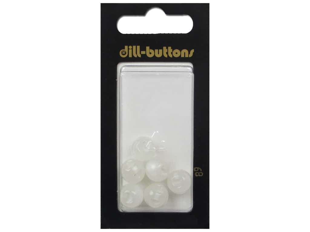 Dill Shank Buttons 3/8 in. White #89 6 pc.