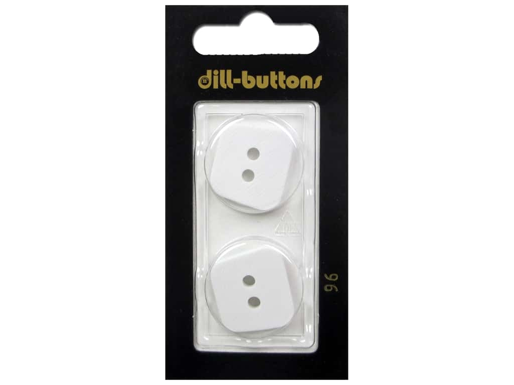 Dill 2 Hole Buttons 7/8 in. White #96 2 pc.