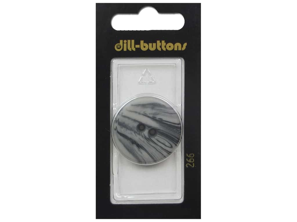 Dill 2 Hole Buttons 1 1/8 in. Gray #266 1 pc.