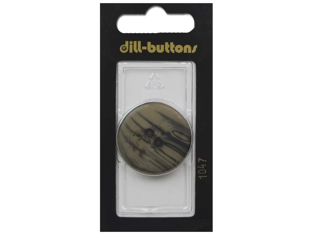 Dill 2 Hole Buttons 1 1/8 in. Brown #1047 1 pc.