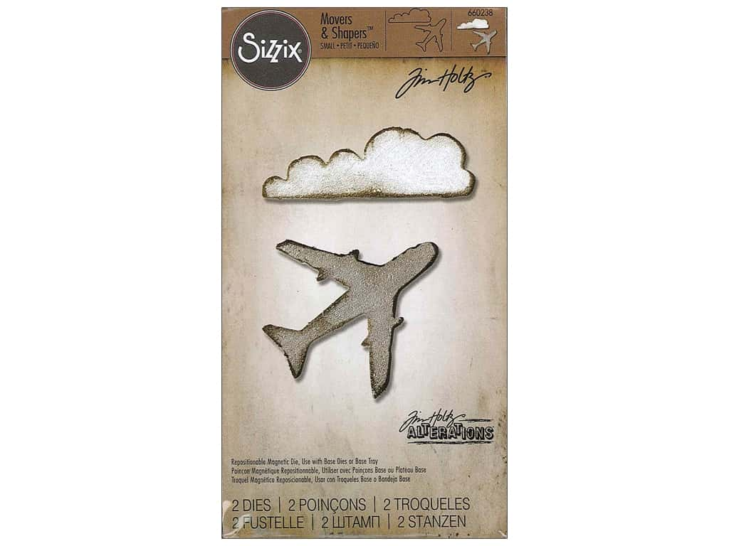 Sizzix Movers & Shapers Magnetic Dies Mini Airplane & Cloud by Tim Holtz